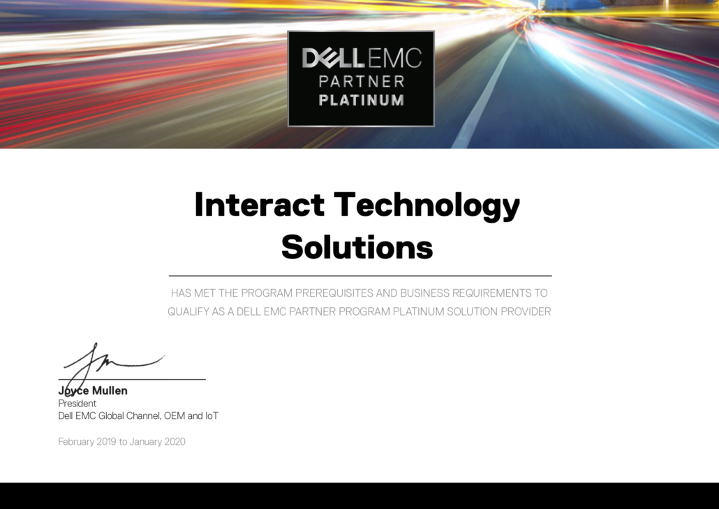 Certificates and Awards - Interact Technology Solutions